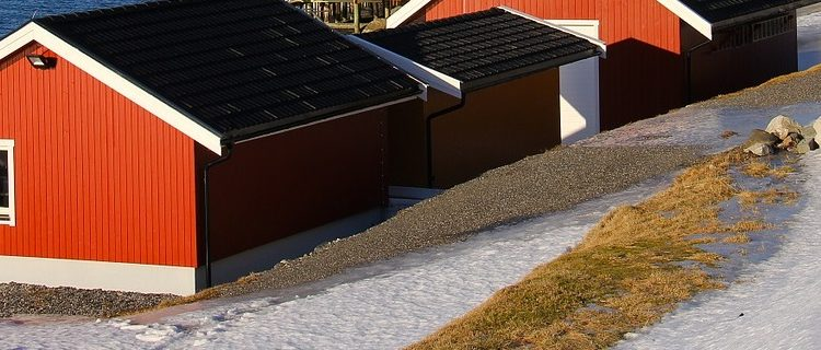 hus vinter klar
